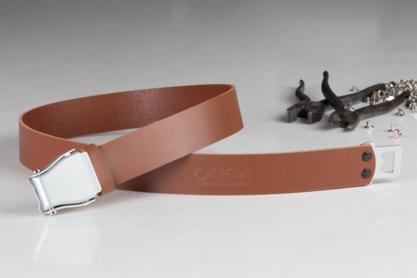 Handmade Leather Belt - Brown Sugar - Orion Belt Company